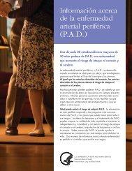 Información acerca de la enfermedad arterial periférica (P.A.D.) - pdf