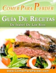 Comer Para Perder: Guía de Recetas - Amazon Web Services