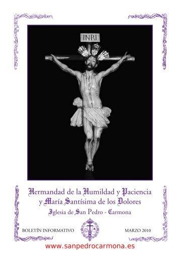 Boletín de Cuaresma 2010 - Hermandad de la ... - Iglesia san Pedro
