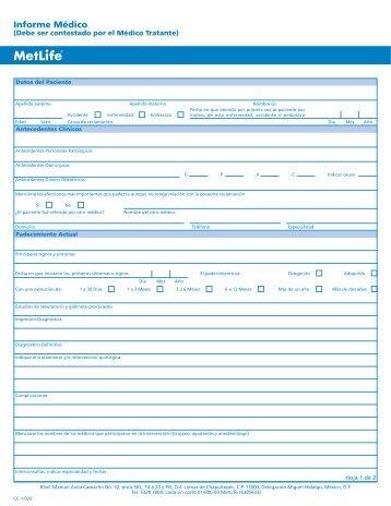 Informe Médico - MetLife