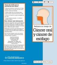 Cáncer oral y cáncer de esófago - American Institute for Cancer ...