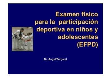 Examen físico para la participación deportiva en niños y ...