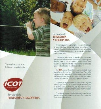 Servicio de FONlATRlA Y LOGOPEDIA - ICOT - Grupo Sanitario