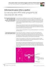 La vacuna anti-HPV enel programa de vacunación de niños