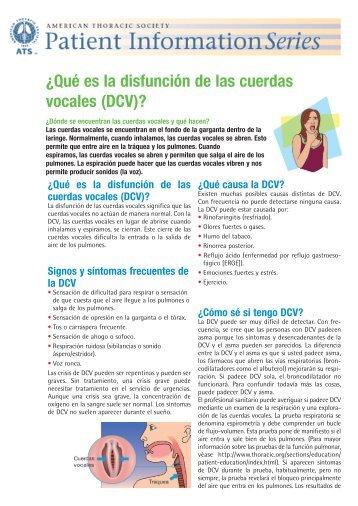 ¿Qué es la disfunción de las cuerdas vocales - Patient Education ...