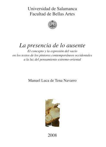 La presencia de lo ausente - Gredos - Universidad de Salamanca