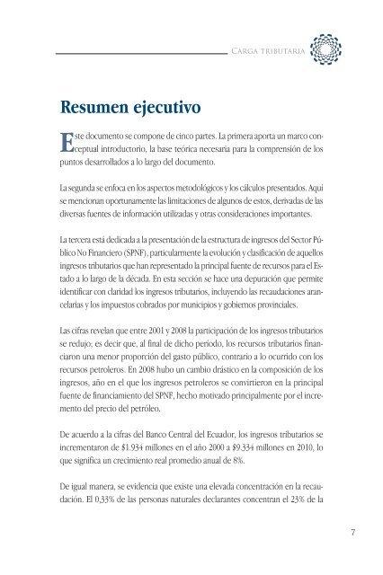 Estudio Cip La Carga Tributaria En El Ecuador Pdf Cámara