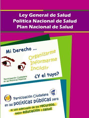 Ley General de Salud - Coordinadora Civil