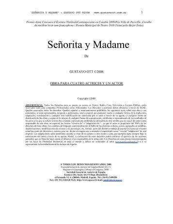Señorita y Madame - Gustavo Ott