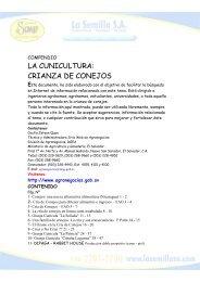 LA CUNICULTURA: CRIANZA DE CONEJOS - La Semilla