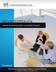 Descuento Seguro Cesantia Finiquito - Transtecnia