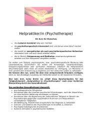 Heilpraktiker/in (Psychotherapie)