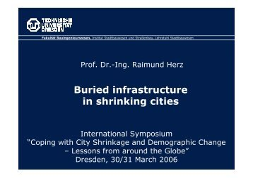 Buried infrastructure in shrinking cities - Schader-Stiftung