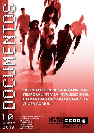 LA PROTECCIÓN DE LA INCAPACIDAD TEMPORAL (IT) Y ... - Inicia