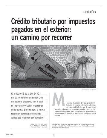Crédito tributario por impuestos pagados en el exterior - Comunidad ...