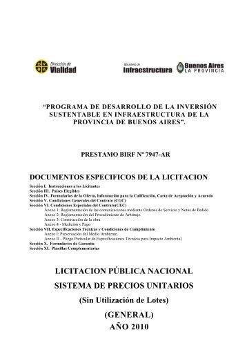 LPI 1/10 General - Ministerio de Economía de la Provincia de ...