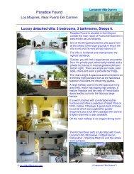 Paradise Found - Lanzarote Villa Owners