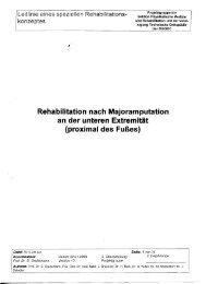 Rehabilitation nach Majoramputation