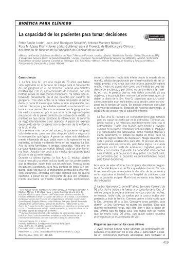 La capacidad de los pacientes para tomar decisiones - CECIC