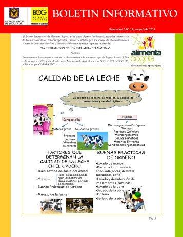 Boletin informativo Vol 3 Nº 18 (mayo 3-2011). - Alimenta Bogotá
