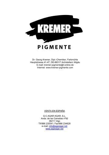 Catalogo Kremer Pigmente