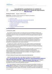 Incumplimiento y penalizaciones en contratos de arrendamiento ...