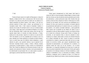SANTO TOMÁS DE AQUINO Frederick Copleston Historia de la ...