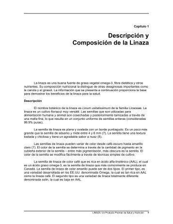 Descripción y Composición de la Linaza - Flax Council of Canada