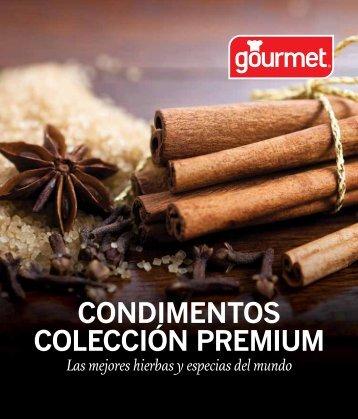 colección premium condimentos - Gourmet, un toque de sabor