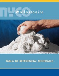 Tabla de Referencia de Minerales | Minerales NYCO | IN-462-10-1