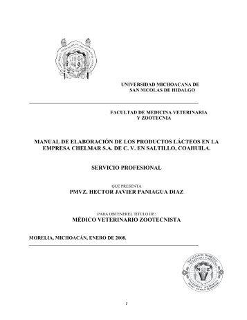 manual de elaboracion de los productos lacteos en - Facultad de ...