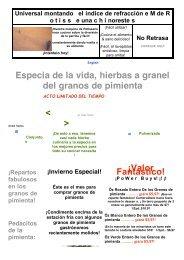 Especia de la vida, hierbas a granel del granos de ... - Carlos Mayor