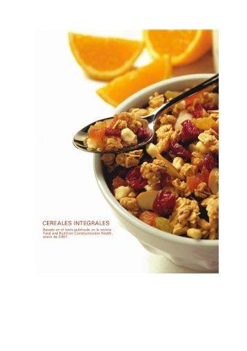159. Los Cereales integrales, el entero es más que la suma de las ...