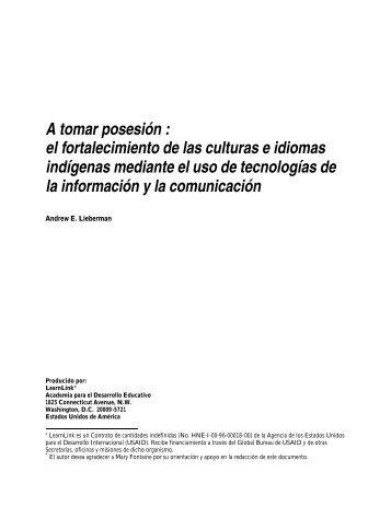 el fortalecimiento de las culturas e idiomas indígenas mediante el ...