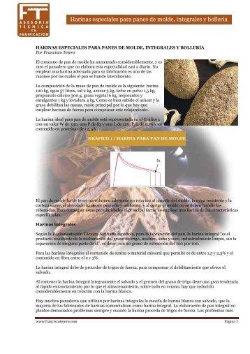 Harinas especiales para panes integrales - Francisco Tejero