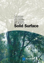Solid Surface - Ormamacchine SpA