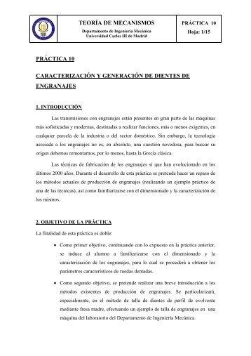 teoría de mecanismos práctica 10 caracterización y generación de ...