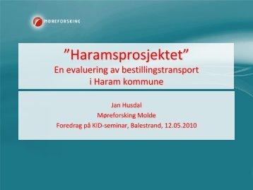 Evaluering av bestillingstransport i Haram kommune