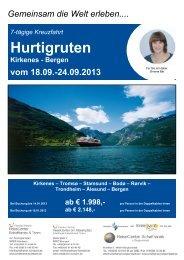 Hurtigruten - Schaffranek Kulmbach