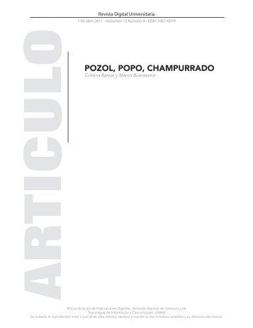 pozol, popo, champurrado - Revista Digital Universitaria - UNAM