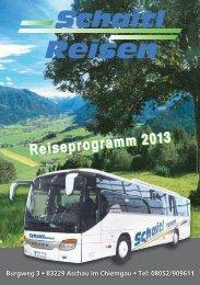 Reisekatalog 2013 - Schaitl-Reisen