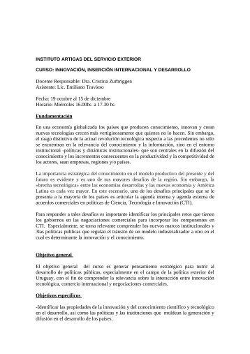 Haga click aquí para acceder al programa ... - FLACSO Uruguay