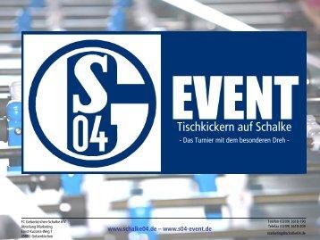 Tischkickern auf Schalke - FC Schalke 04