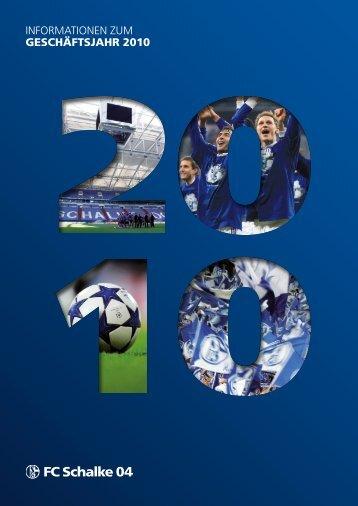 Geschäftsbericht 2010 - FC Schalke 04