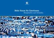 Mehr Raum für Emotionen. Hospitality auf Schalke. - FC Schalke 04