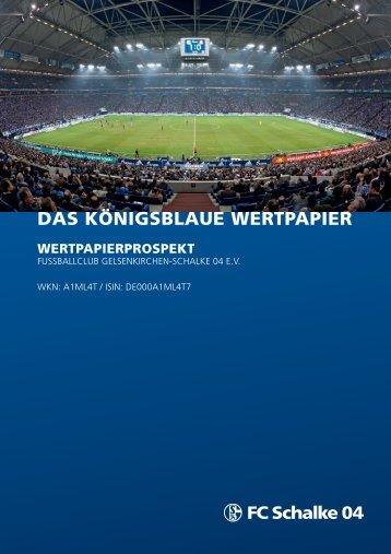 Wertpapierprospekt - FC Schalke 04