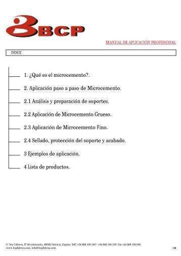 ¿Como se aplica el microcemento? - BCP Fabrica