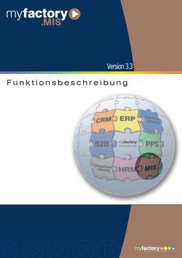 myfactory- Funktionsbeschreibung MIS