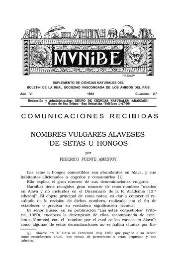 Nombres vulgares alaveses de setas u hongos - Aranzadi