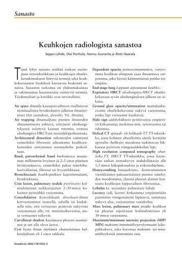 Sanasto - Terveyskirjasto